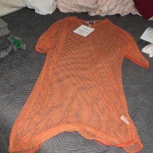 Orange mess dress